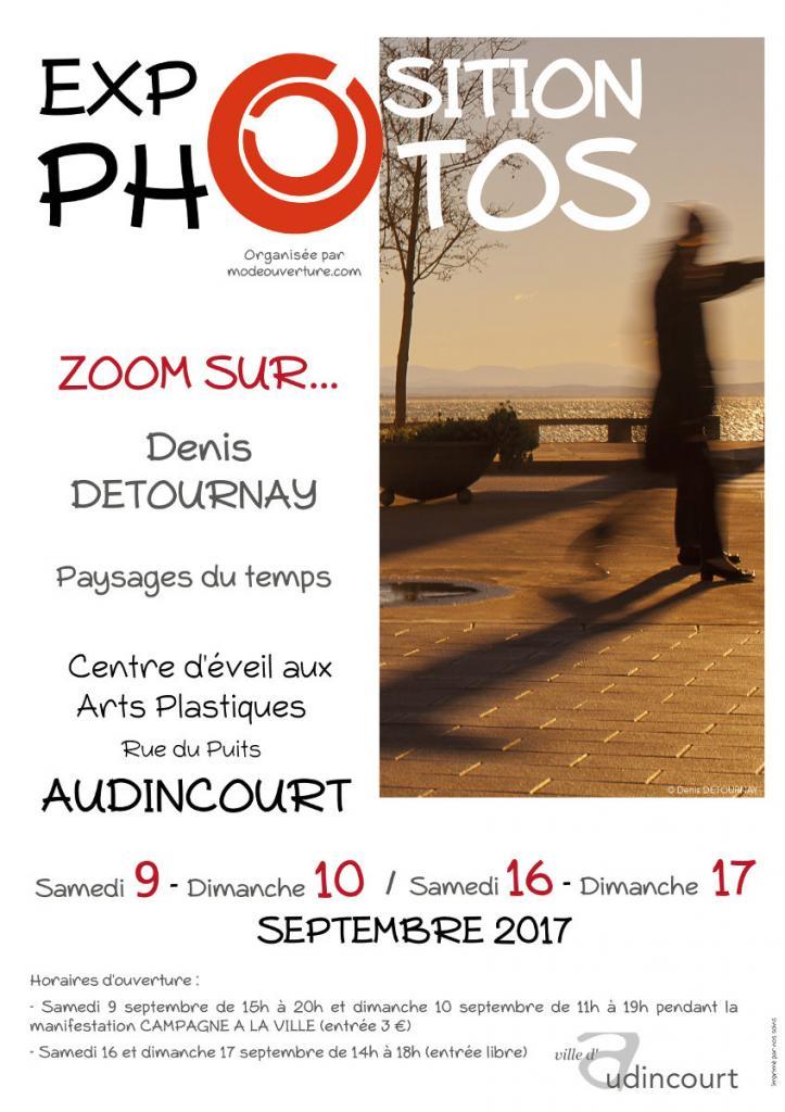 Affiche de l'exposition Zoom sur Denis Detournay
