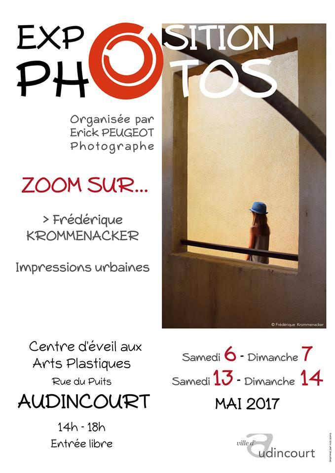 Affiche de l'exposition Zoom sur Frédérique Krommenacker
