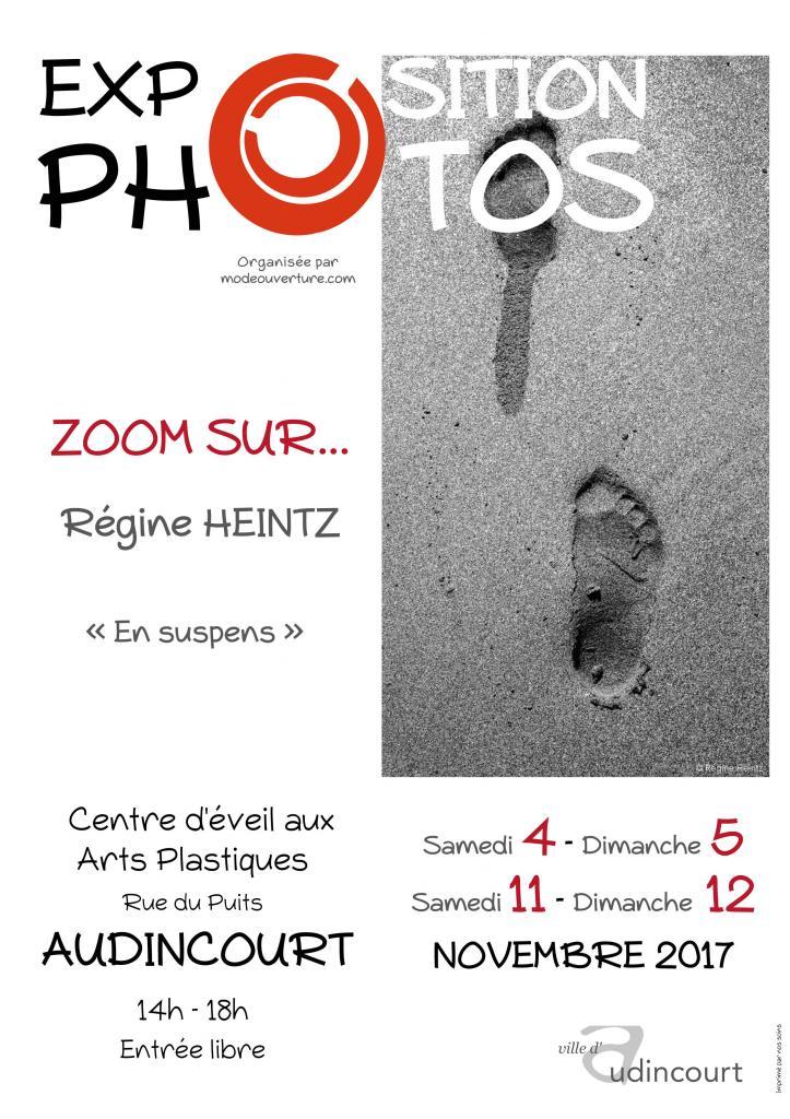 Affiche de l'exposition Zoom sur Régine Heintz