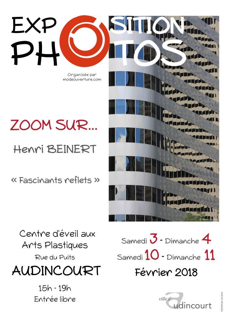 Affiche de l'exposition Zoom sur Henri Beinert