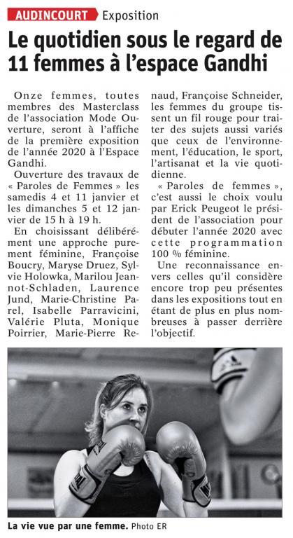 L'Est Républicain, le 30/12/2019