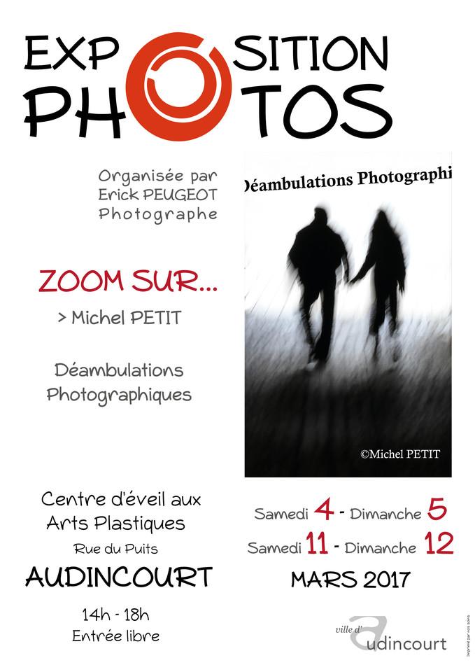 Affiche de l'exposition Zoom sur Michel Petit