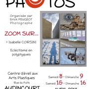 Affiche de l'exposition Zoom sur Isabelle Corsini