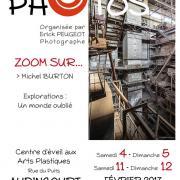 Affiche de l'exposition Zoom sur Michel Burton